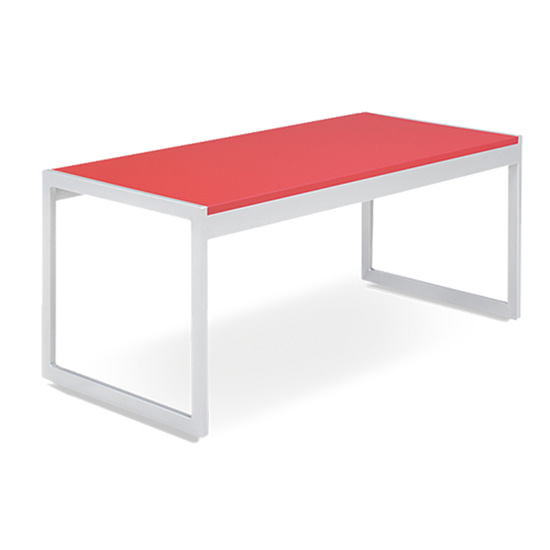 Aria Cocktail Table - Red