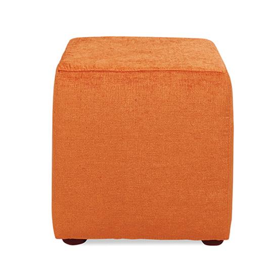 Regency Cube Ottoman - Orange